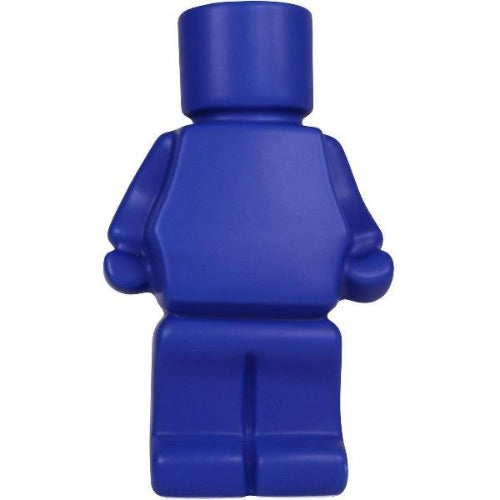 block man planter blue