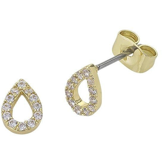 Gold Teardrop Diamond earrings liberte for women
