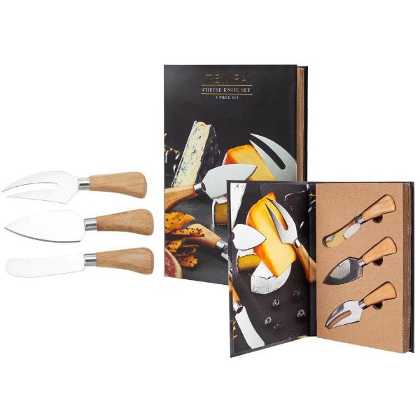 3pc cheese knife set giftbox