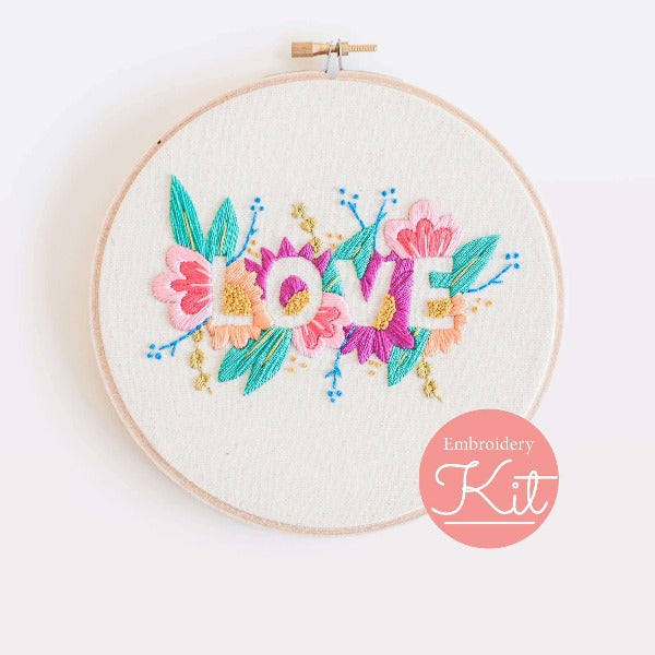 love bright DIY embroidery kit