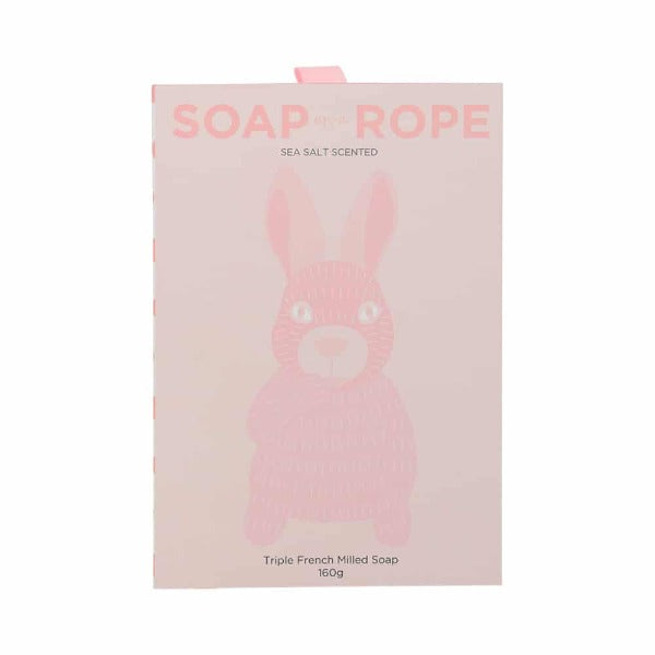 pink soap on a rope bunny for women