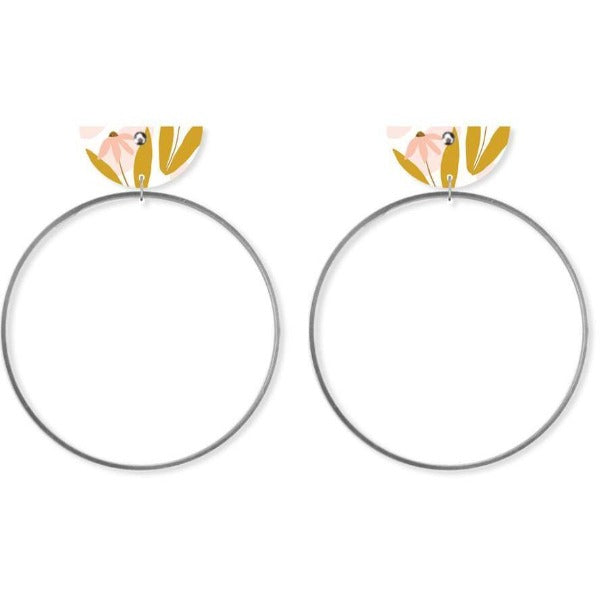 Bloom Helsinki Moon Ring Studs