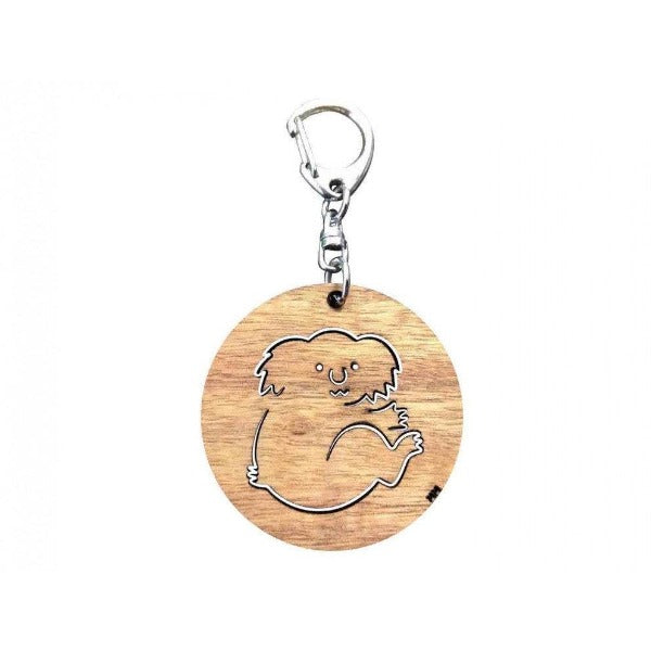Koala Round Blackwood Key Ring