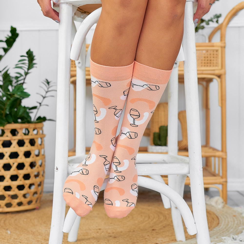 peach give me rose socks for women boxed annabel trends
