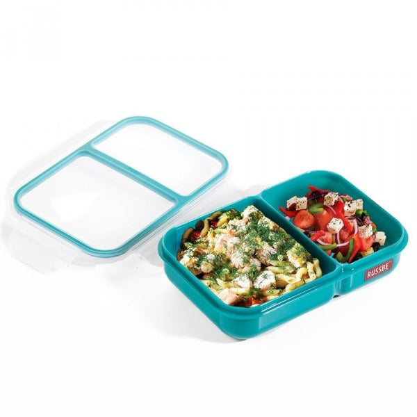 Teal 2 Compartment Bento