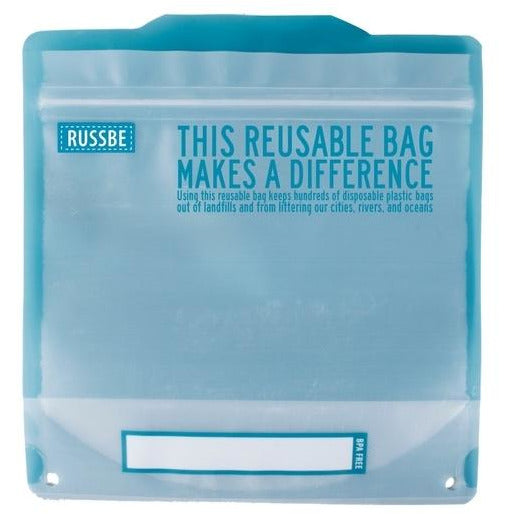 Blue reusable sandwich bags pack of 8