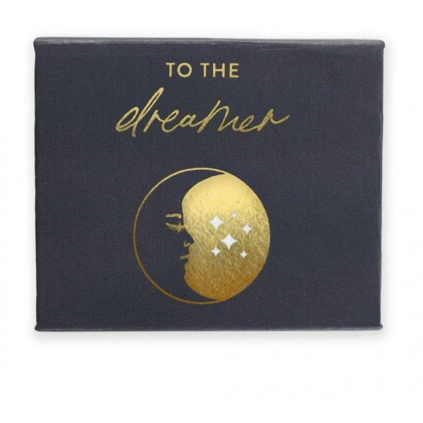 gold foil pebble in custom box black dreamer