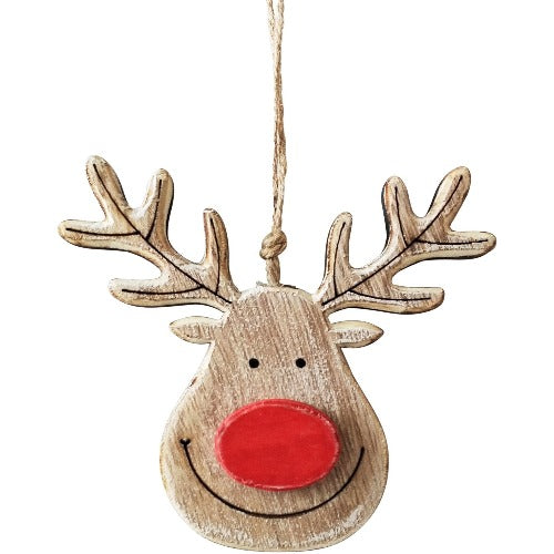 natural hanging reindeer face decoration