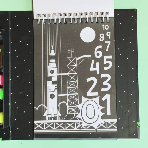 tiger tribe neon colouring set outer space video