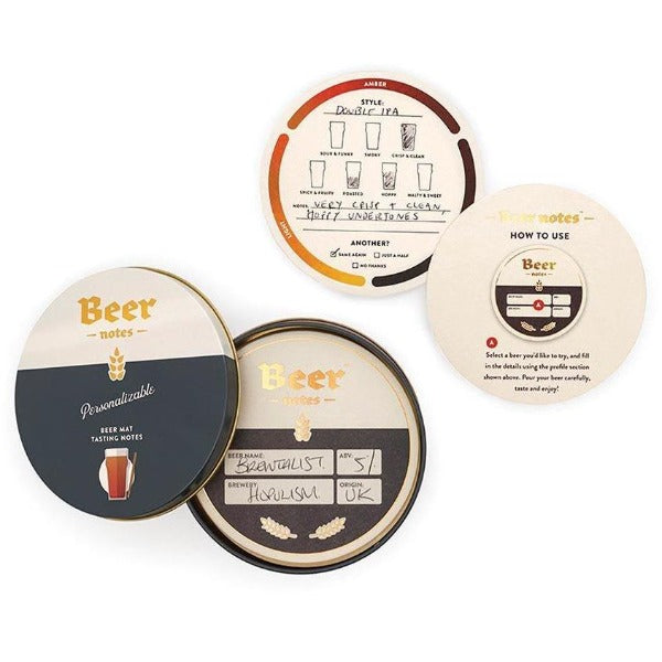 Beer tasting coaster cards