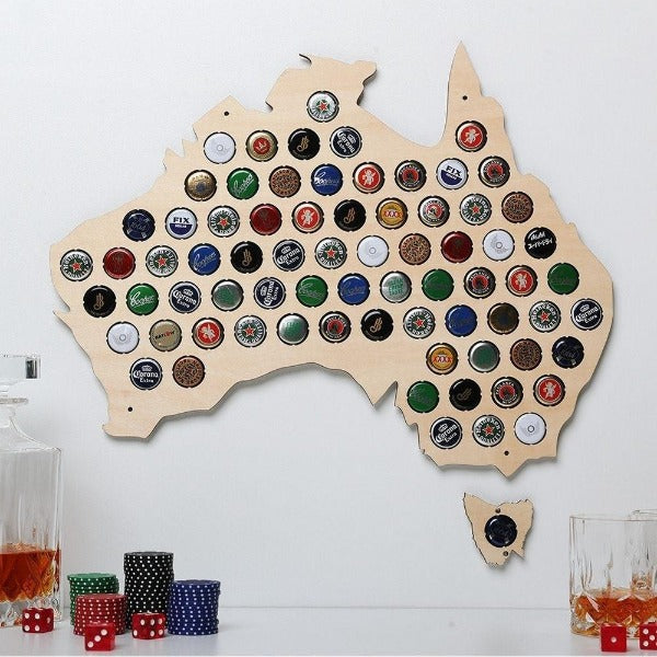 Beer Cap Australia Map