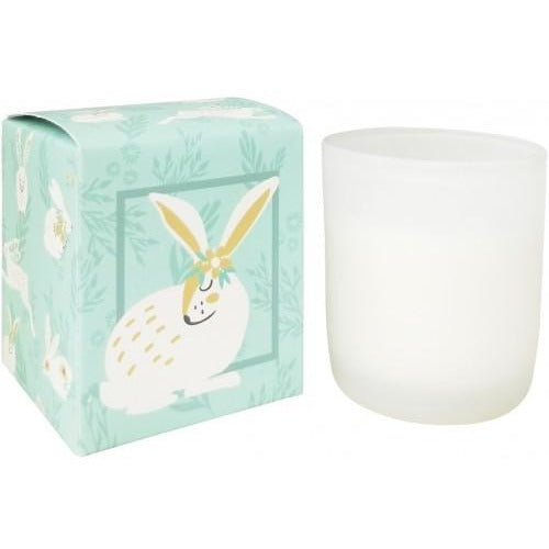 Bunnies Green Boxed Soy Candle 9cm