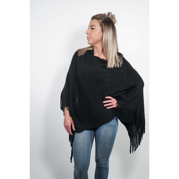 Black Winter Poncho