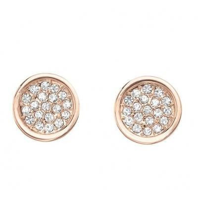 Tresor Rose Gold Crystal Earrings