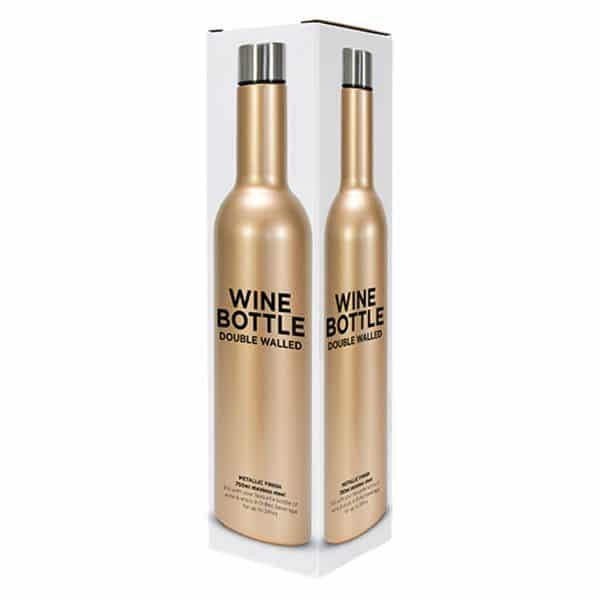 Gold Stainless Double Walled Wine Bottle