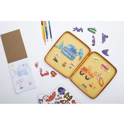 Diggersaurs Puzzle and Draw Magnetic Kit