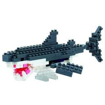 great white shark nanoblock