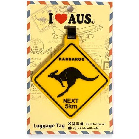 road sign luggage tag