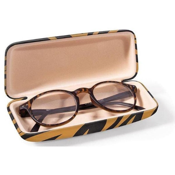 Tiger Print Glasses Case