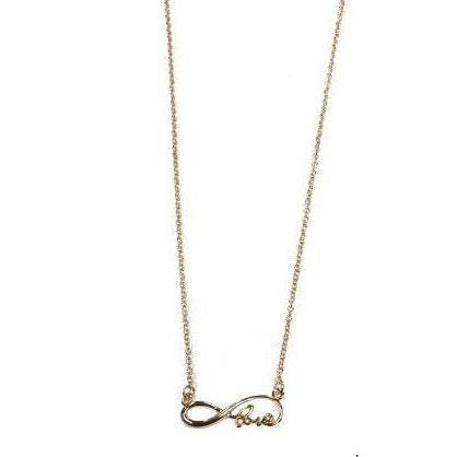 Gold Love Infinity Necklace