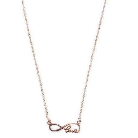 Rose Gold Infinity Love Necklace