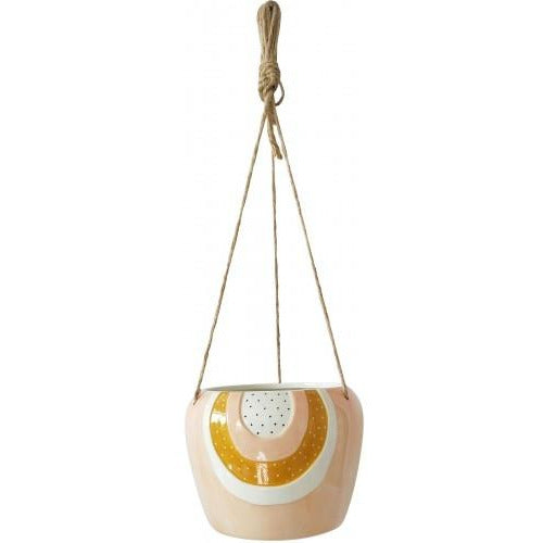 Woodstock Rainbow Hanging Planter Pink Large