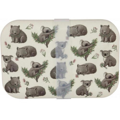 Koala and Wombat Bamboo Container 800ml