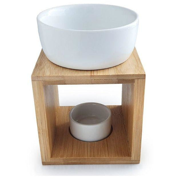 Ceramic and Bamboo Oil Burner