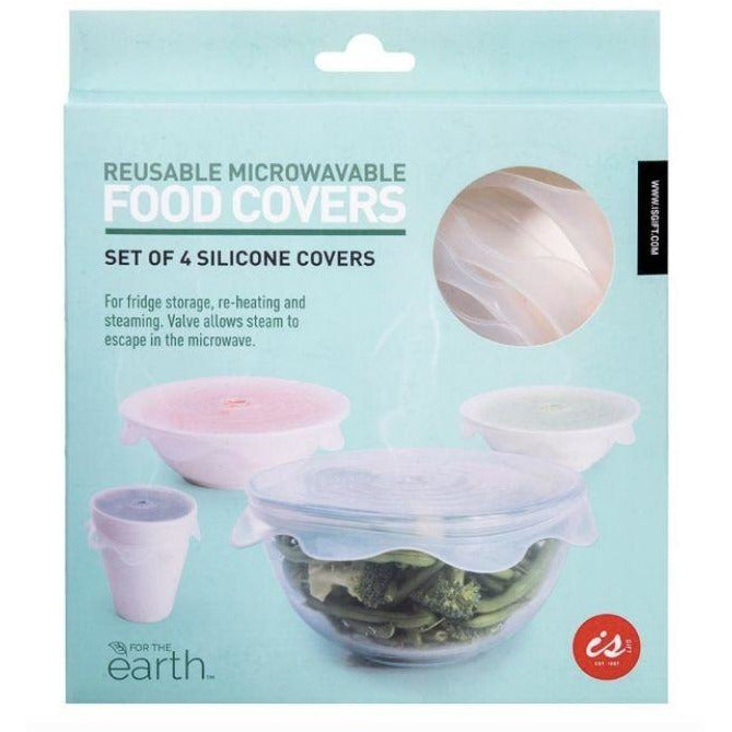 Reusable microwavable food covers set of 4