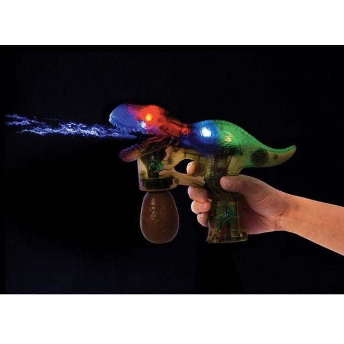 Light up dinosaur bubble gun