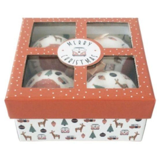 Retro christmas bauble gift box