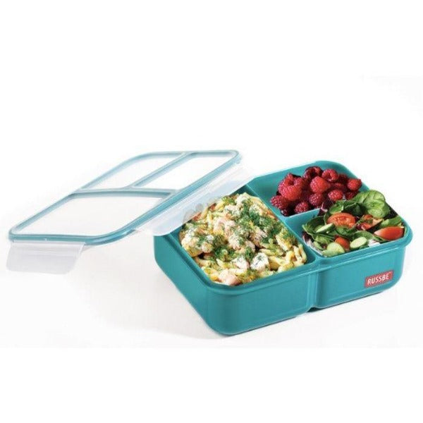 Teal 3 compartment Bento