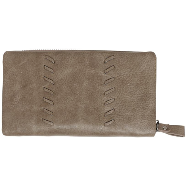 Dark Taupe Vegan Leather Wallet