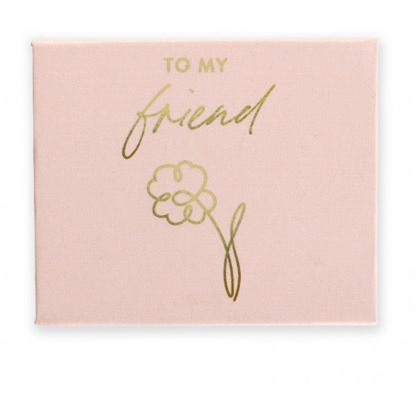 gold foil pebble in custom box pink friends