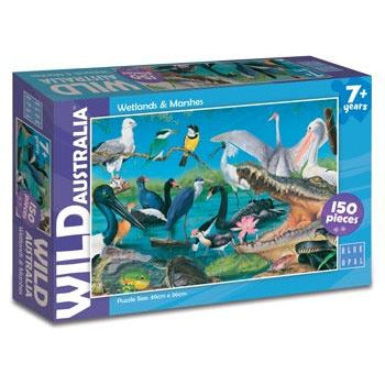 blue wetland puzzle for kids