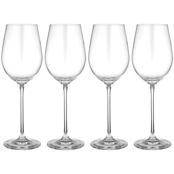set of four red wine wine glasses