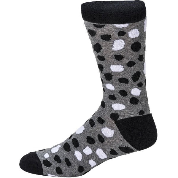 monochrome animal print socks