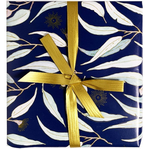 Blossom Gift Wrap gold ribbon