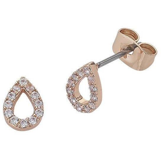 Rose Gold Teardrop Diamond earrings liberte for women