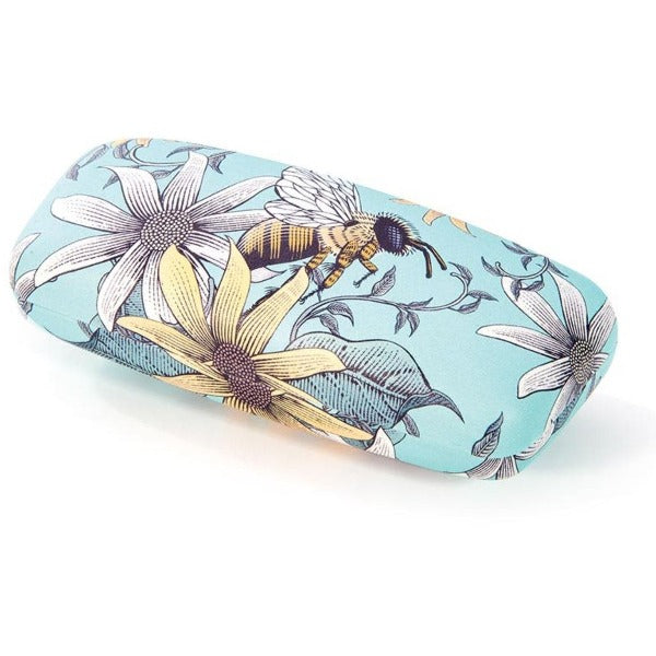 Glasses case bees mint