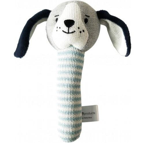 Blue Puppy Dog Rattle