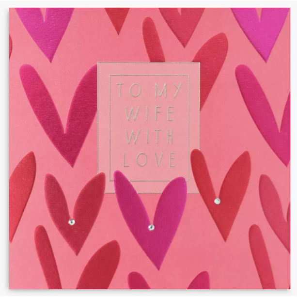 pink and red love card for women