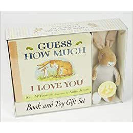 rabbit book and toy set for children