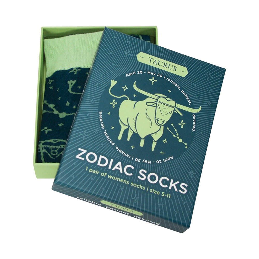 green Taurus zodiac annabel trends boxed socks for women annabel trends