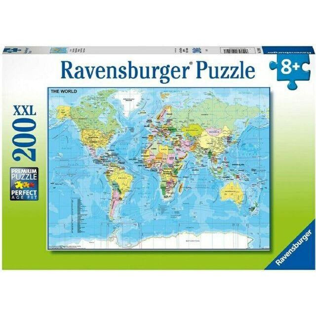 World Map Jigsaw Puzzle 200pc Ravensburger