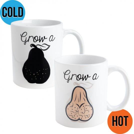colour changing grow a pair novelty mug for men