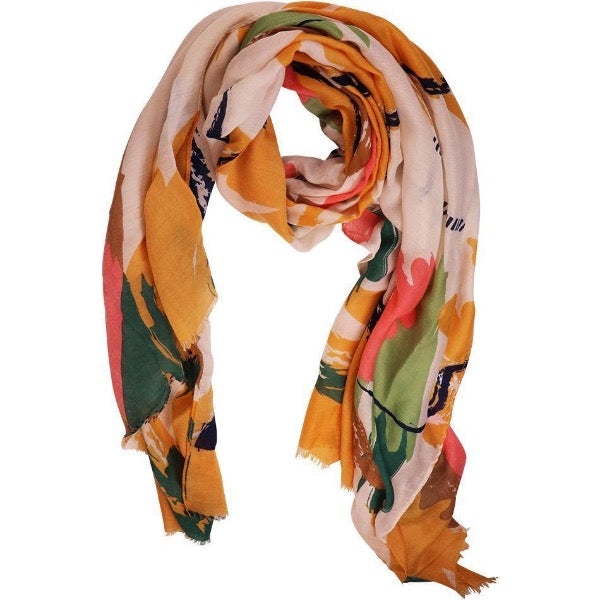green and yellow scarf for women