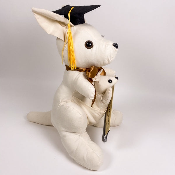 fabric kangaroo for a graduation present