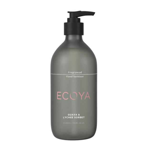 guava and lychee scented ecoya hand sanitiser for women