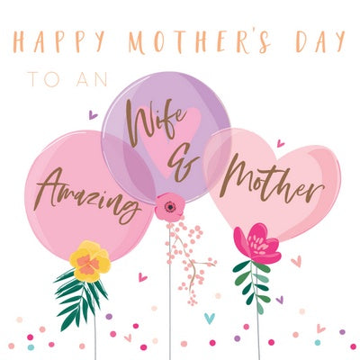 balloon wife mothers day card
